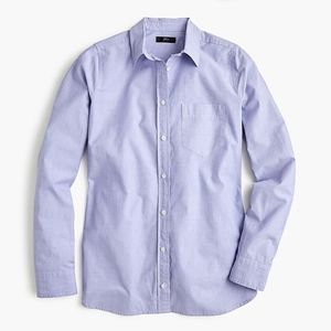 New JCREW Classic-fit boy shirt end-on-end cotton